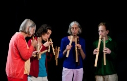 photo, bamboo flute quartet on 4 September 2011