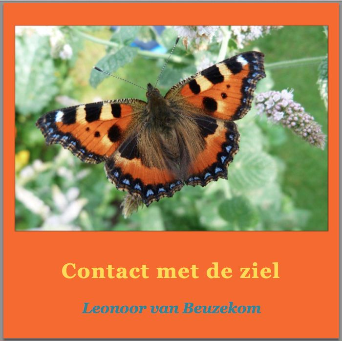 photo, front of the book 'Contact met de ziel' (Contact with the soul) pdf version