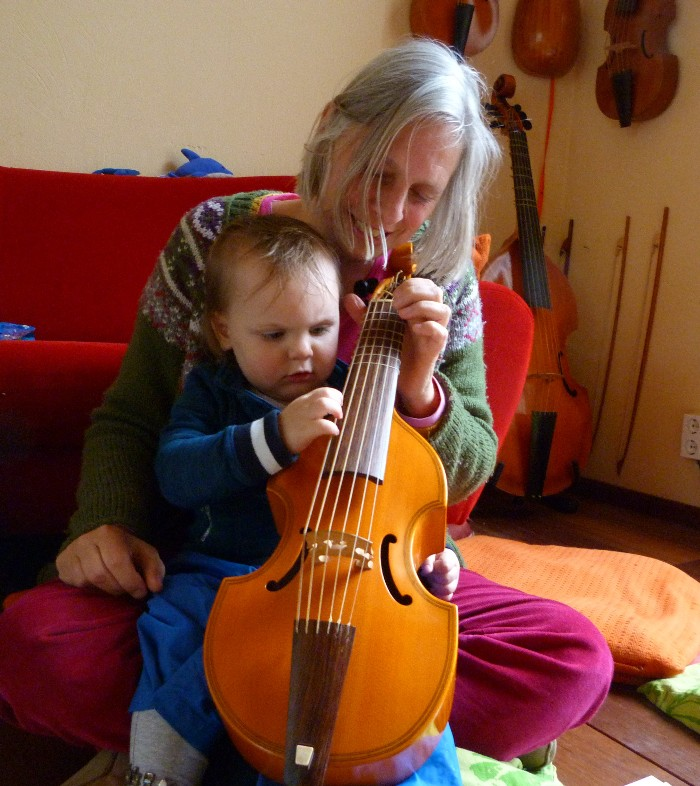 photo from Elly, Serena's sister with the descant (treble) viola da gamba