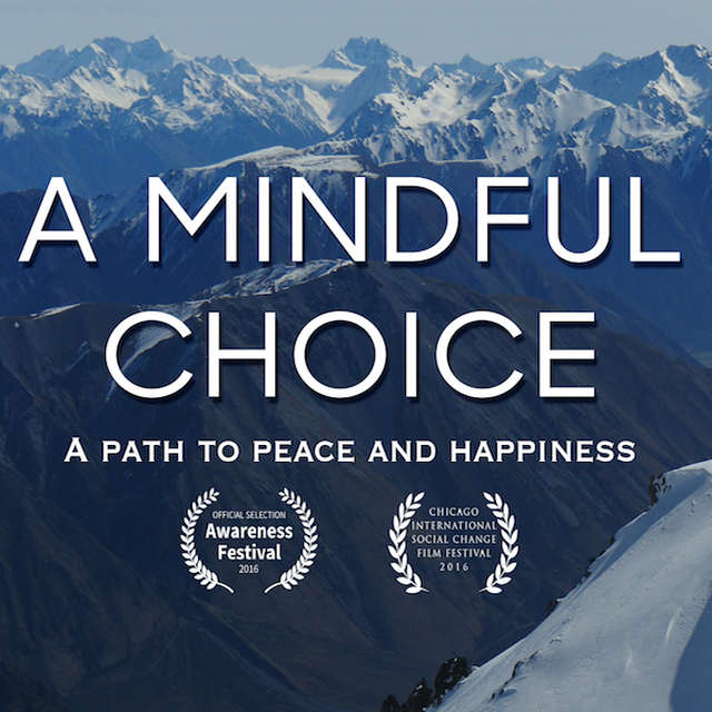 foto, documentaire 'A mindful choice, a path to peace and happiness' uit 2016