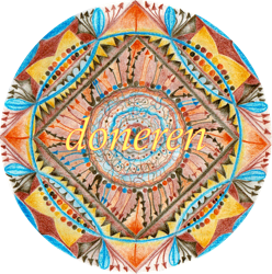 mandala with 'donatie' (donation) text