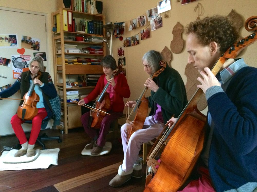 photo concert at home 25 January 2015, viola da gamba (viol) quartet